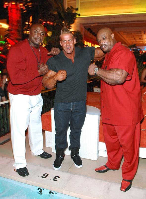 Tony Freeman, Jay Cutler and Ronnie Coleman