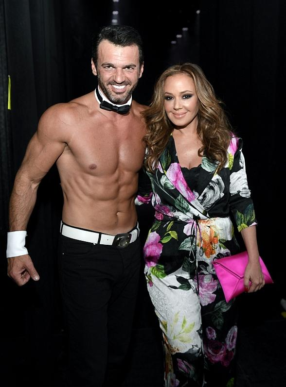 "Emmy Award Winning Actress Leah Remini Reunites with Tony Dovolani, Her Former Partner from ""Dancing with the Stars"" and Current Chippendales Guest Host at the Rio All-Suite Hotel & Casino in Las Vegas"