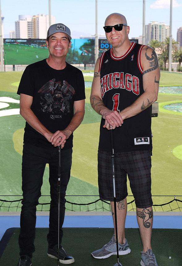 Train's lead singer Pat Monahan spotted at Topgolf Las Vegas