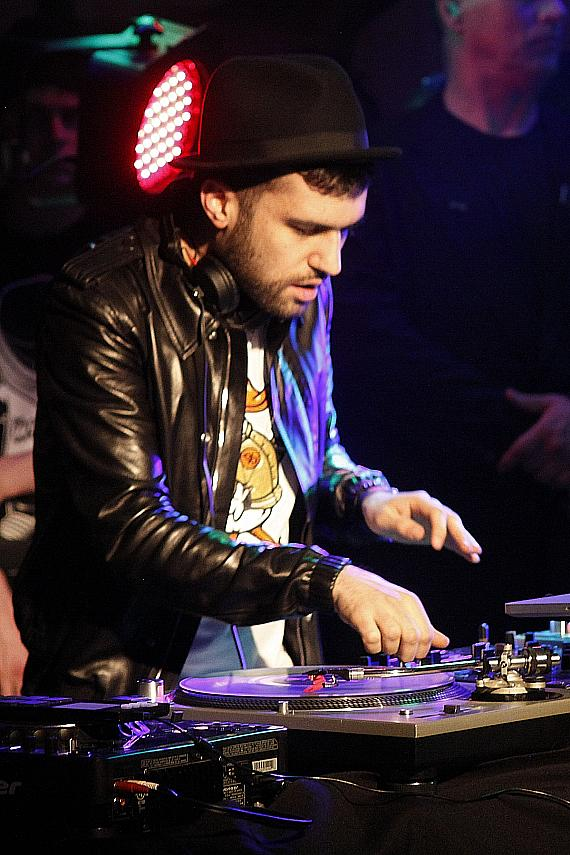 Travis Barker and DJ A-Trak at PURE Nightclub