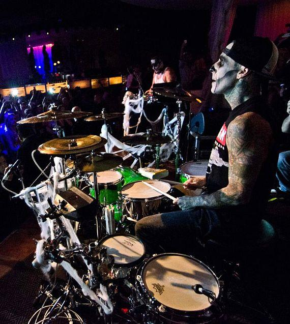 Travis Barker and Mix Master Mike at PURE