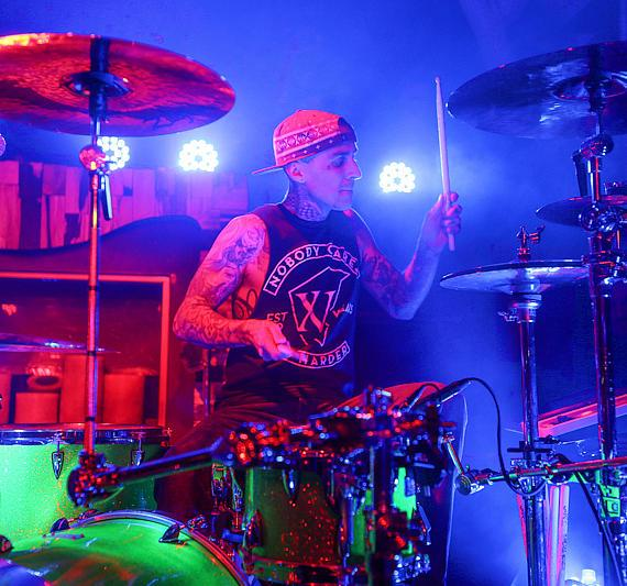Travis Barker performs at Hyde Bellagio