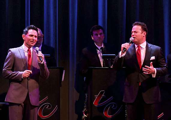 "Travis Cloer and Paul Vann perform in ""Christmas at My Place"" at The Smith Center in Las Vegas"