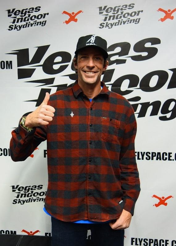 Travis Pastrana at Vegas Indoor Skydiving