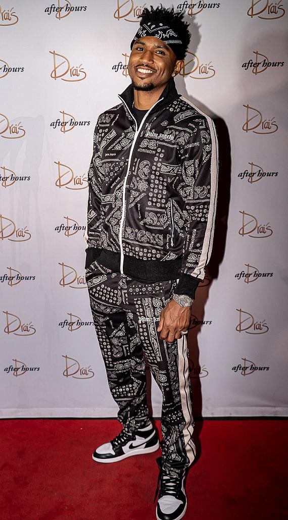 Trey Songz Arrives at Drai's Nightclub