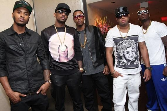 Trey Songz, Fabolous, Red Café and Jeremih at N9NE Steak