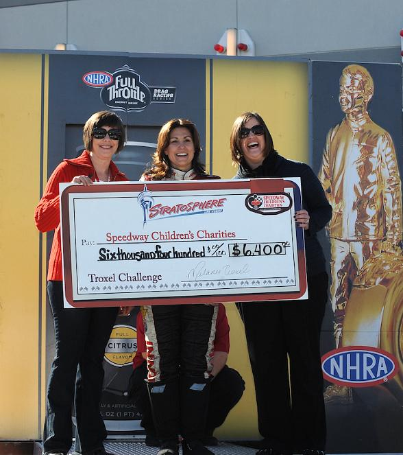 Stratosphere and NHRA Drivers Raise $7,000 for Speedway Children's Charities