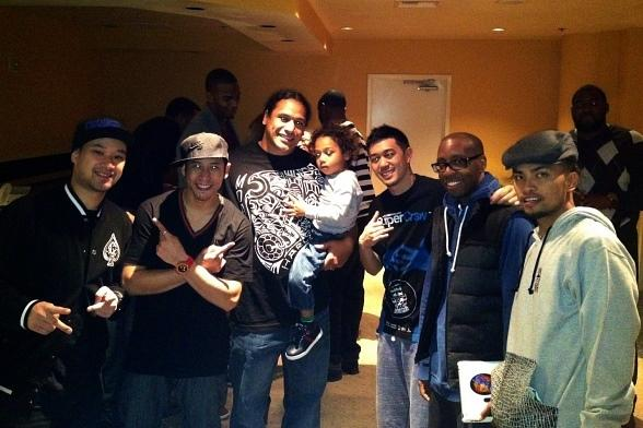 Troy Polamalu (Pittsburgh Steelers) at Jabbawockeez