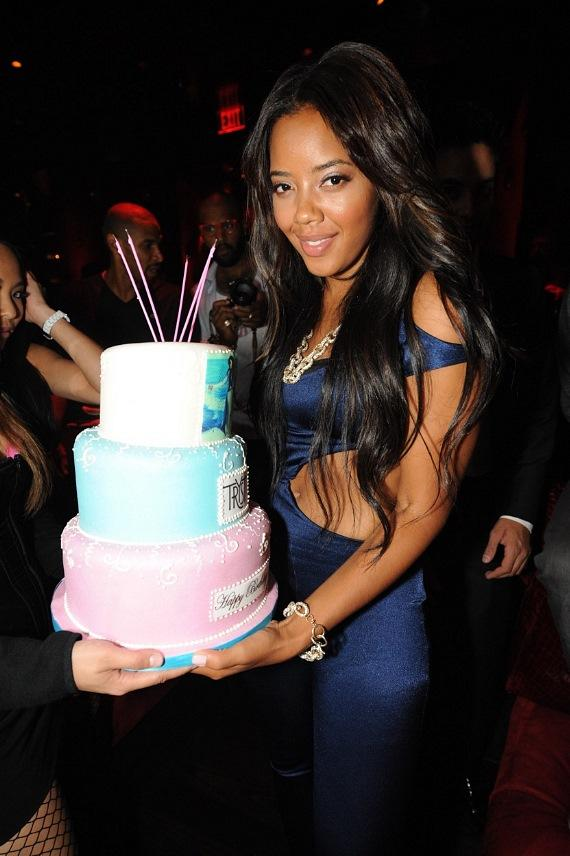 Angela Simmons celebrates birthday at Tryst Nightclub