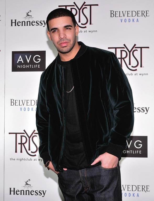 Drake on the red carpet at Tryst Nightclub