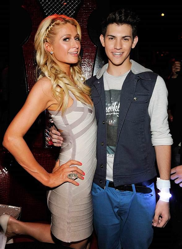 Paris Hilton and Nick Hissom at Tryst