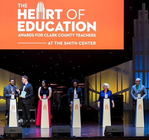 Twenty outstanding educators rewarded at the 2017 Heart of Education Awards at The Smith Center, April 29