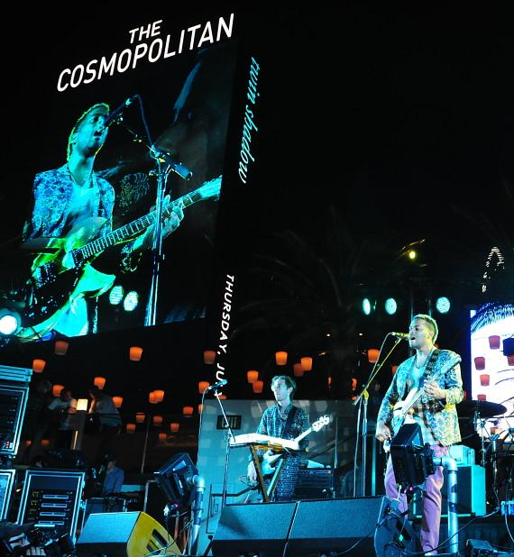 Twin Shadow plays the Boulevard Pool at The Cosmopolitan of Las Vegas