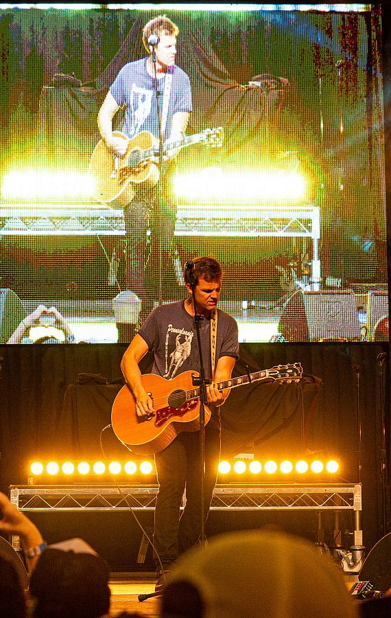 Tyler Hilton performs during Pop 2000 Tour at Fremont Street Experience