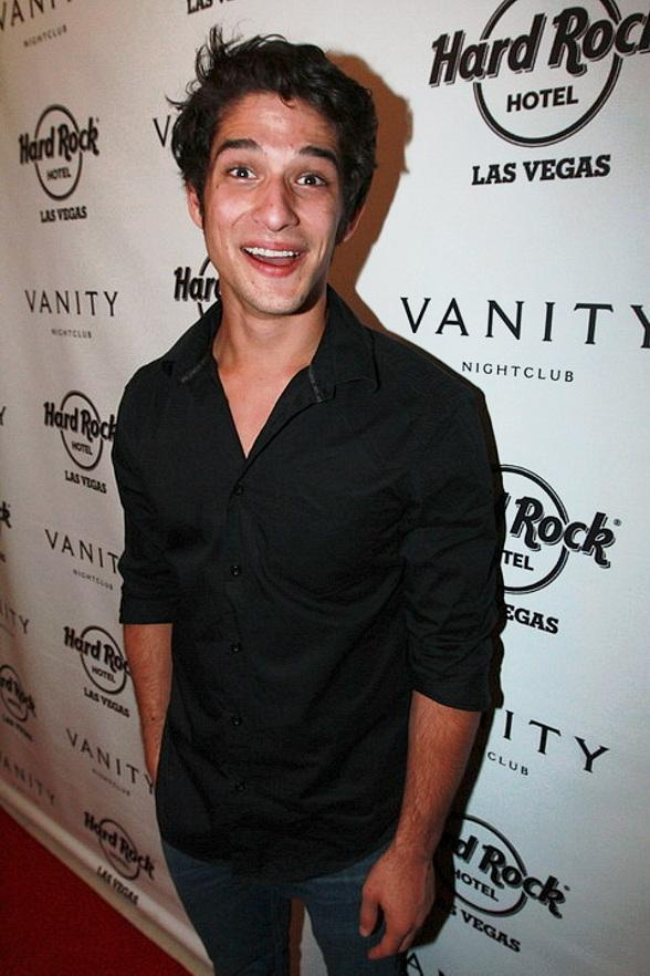 Tyler Posey Celebrates 21st Birthday at Pink Taco and Vanity Nightclub at Hard Rock Hotel & Casino