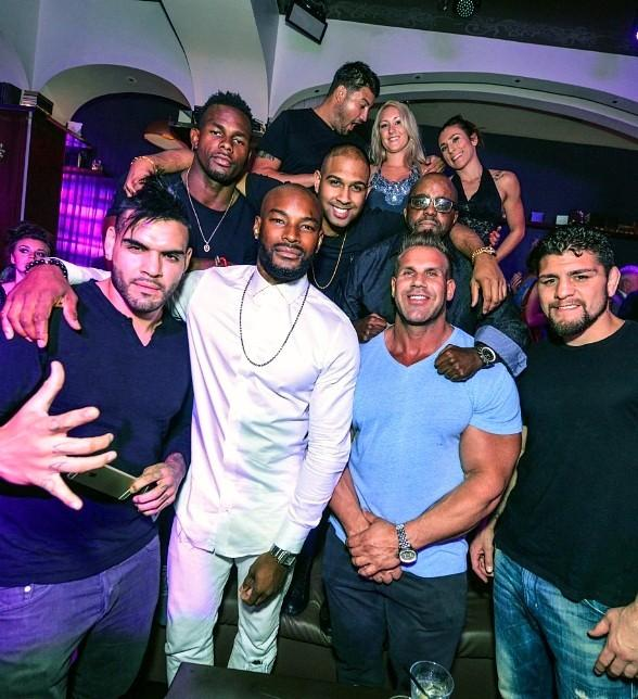 American Supermodel Tyson Beckford Parties at Hyde Bellagio