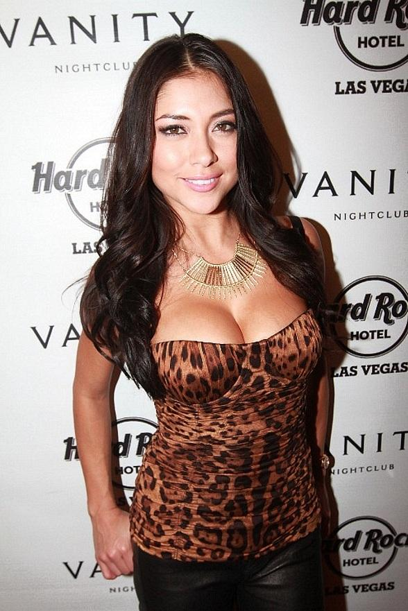 UFC Octagon Girl and Maxim's December Cover Model Arianny Celeste at The Hard Rock Store