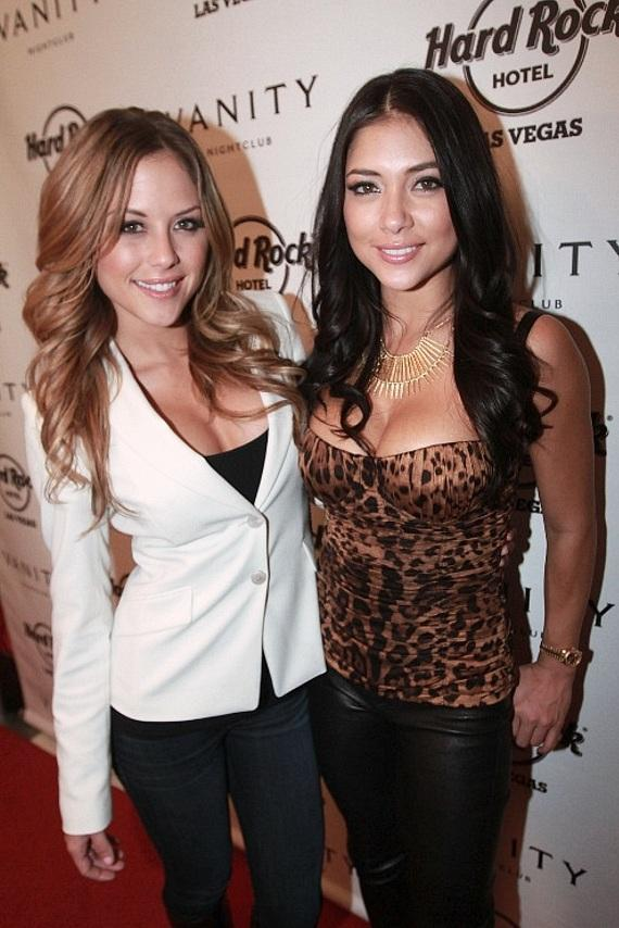 Octagon girls Brittany Palmer and Arianny Celeste at Vanity Nightclub