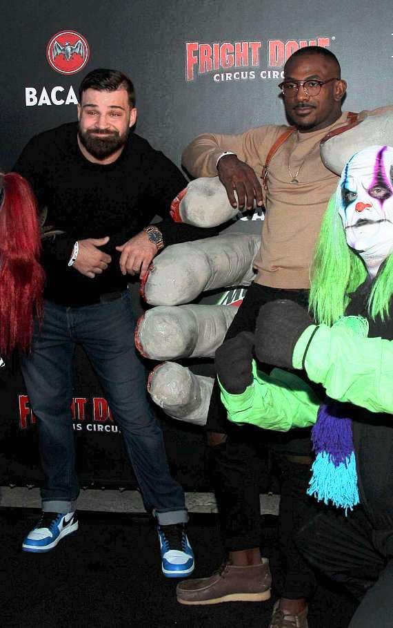 UFC fighter Khali Roundtree and Julian Marquez at Fright Dome in Las Vegas