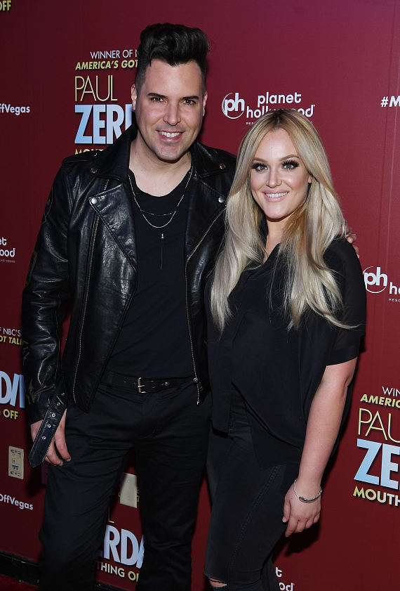 UNDER THE INFLUENCE Stars Frankie Moreno and Lacey Schwimmer at Opening Night of PAUL ZERDIN MOUTHING OFF at Planet Hollywood Resort & Casino