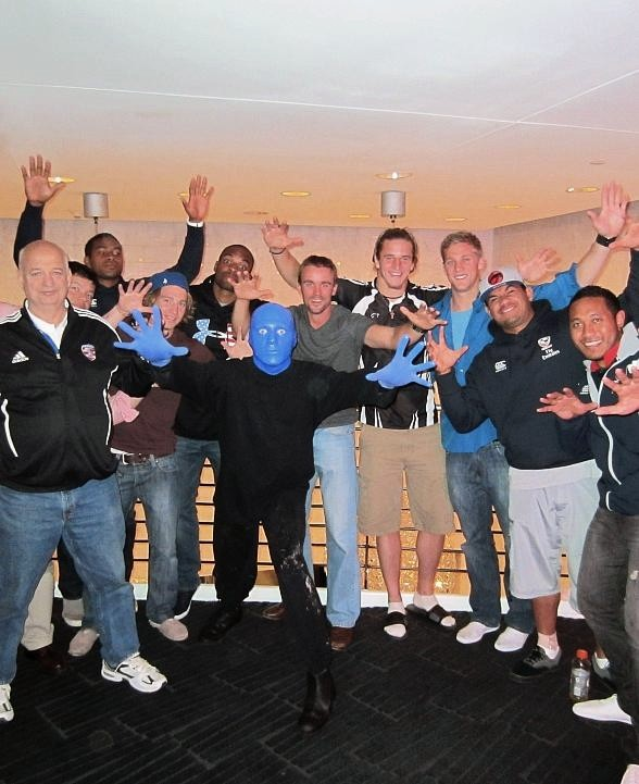 USA Eagles National Sevens Rugby Team at Blue Man Group Las Vegas