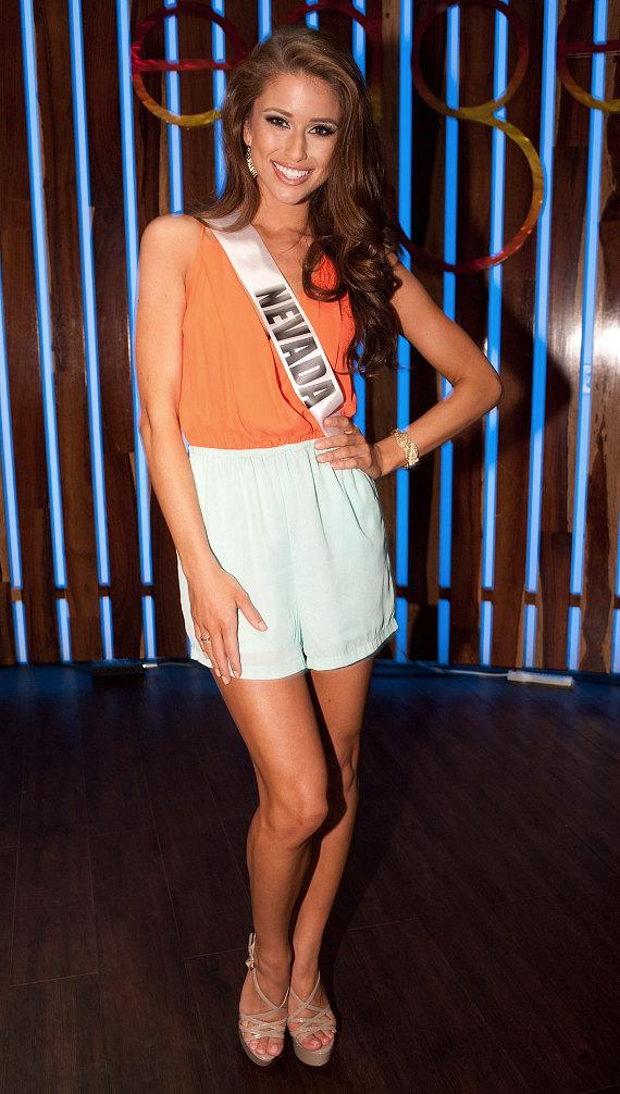 Nia Sanchez, Miss Nevada USA 2014, photographed at L'Auberge Casino Hotel Baton Rouge prior to competition