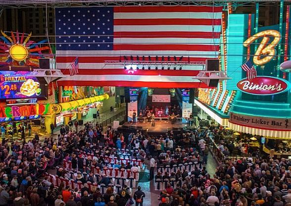 "Fremont Street Experience Hosts 7th Annual ""Salute to the Troops"" with Free Show by Gary Sinise & the Lt. Dan Band, Nov. 9"