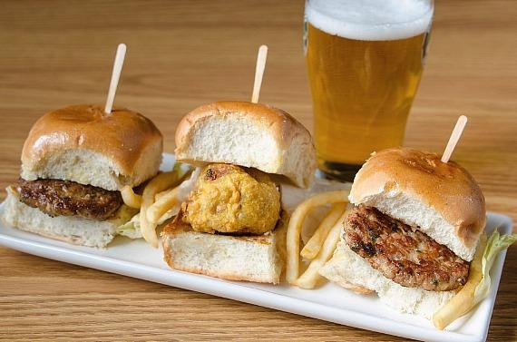 Urban Turban Lamb Sliders and Vada Pav