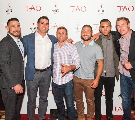 Urijah Faber and friends at TAO Nightclub