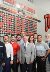 UNLV Rebel Hockey Reveals Honorary Member's Puck Wall Inside City National Arena