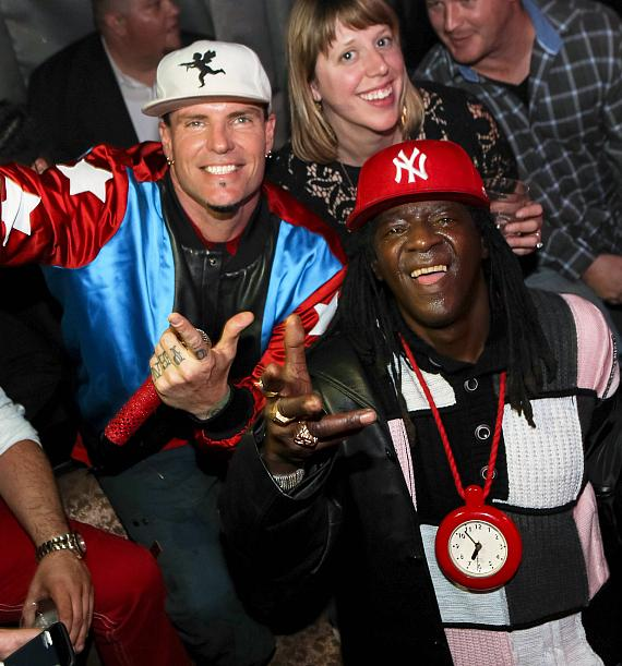 Vanilla Ice and Flavor Flav at LAX