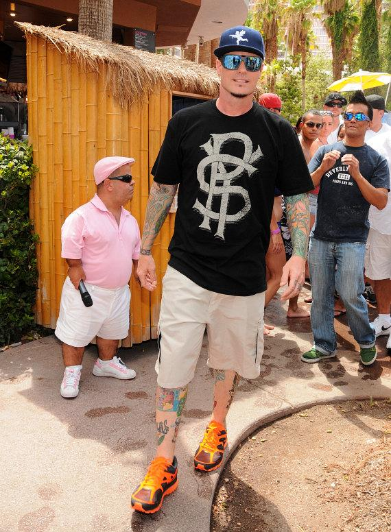 Vanilla Ice arrives at Flamingo GO Pool in Las Vegas