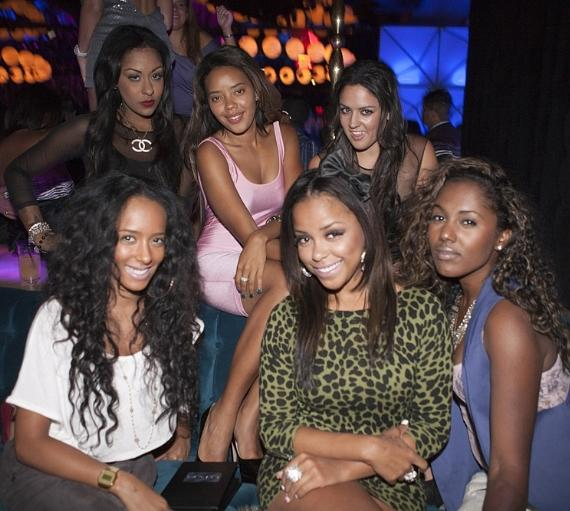 Angela Simmons and friends at Vanity