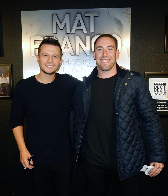 "Vegas Golden Knights Defenseman Brad Hunt Attends ""Mat Franco - Magic Reinvented Nightly"" at the LINQ Hotel & Casino Las Vegas"