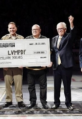The Vegas Golden Knights Foundation Donates One Million Dollars to the Friends of Las Vegas Metropolitan Police Department Foundation