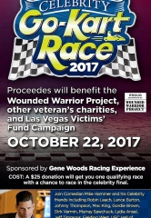 "Comedian Mike Hammer to Host 3rd Annual ""Mike Hammer Celebrity Go-Kart Race"" Charity Event to Benefit the Wounded Warrior Project Oct. 22, 2017"