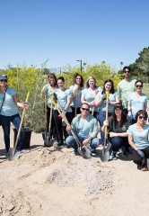 Henderson Donates Plants and Trees to Elementary School Garden Project