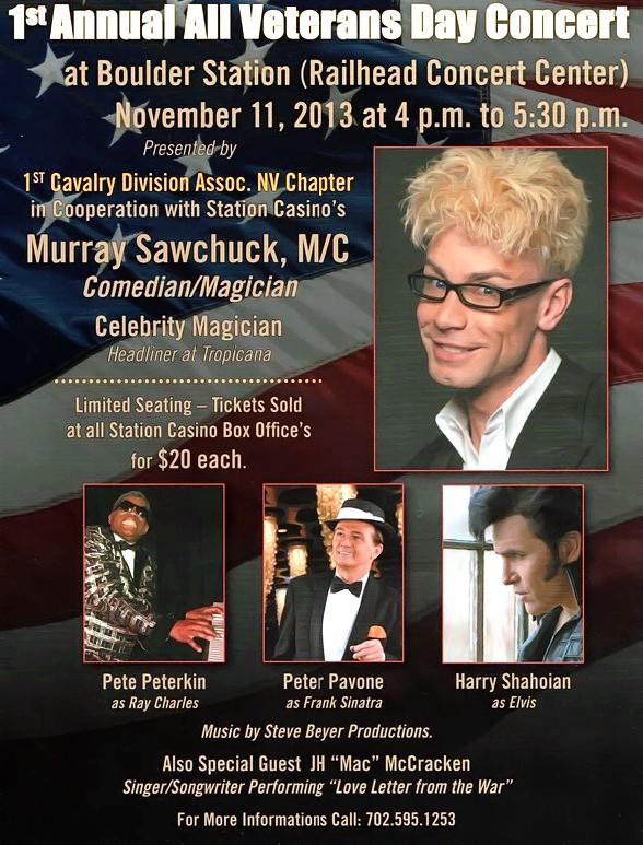 Murray to Host 1st Annual All Veterans Day Concert at Boulder Station Nov. 11