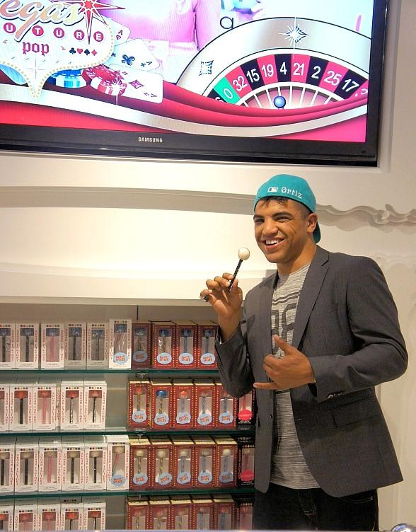 Victor Ortiz at Sugar Factory in Las Vegas