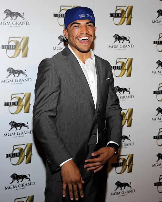 Victor Ortiz on Red Carpet at Studio 54, Las Vegas