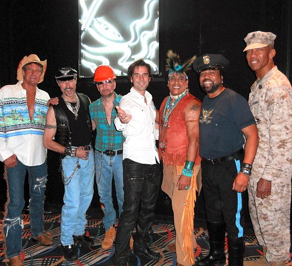 Illusionist Jan Rouven Attends Village People Concert at The Riviera in Las Vegas