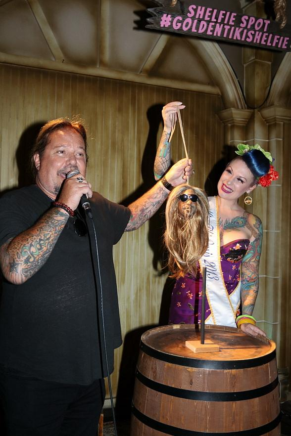 Vince Neil Unveils Shrunken Head at The Golden Tiki in Las Vegas