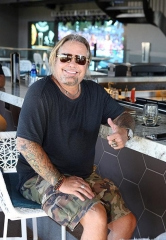 Rocker Vince Neil spotted at Topgolf Las Vegas