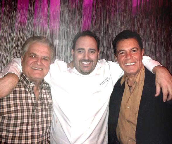 Vincent Falcone, Chef Barry S. Dakake and Clint Holmes