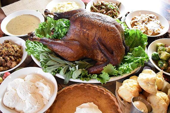 Virgil's Smoked Turkey and sides