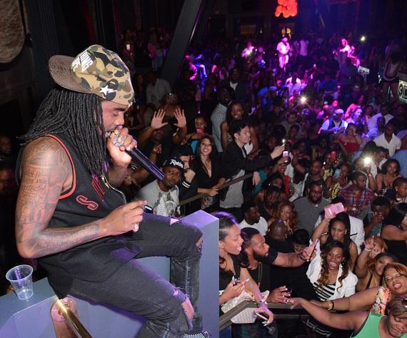 Wale in the DJ Booth at Chateau Nightclub