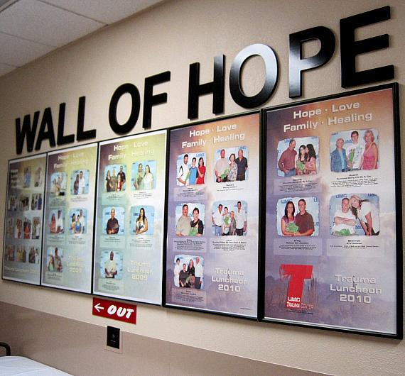 Wall of Hope at UMC