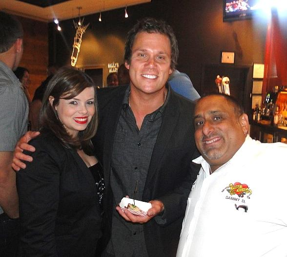 "Bob Guiney from ABC's ""The Bachelor,"" and FIRST's Chef Sammy D and Cecilia Berumen"