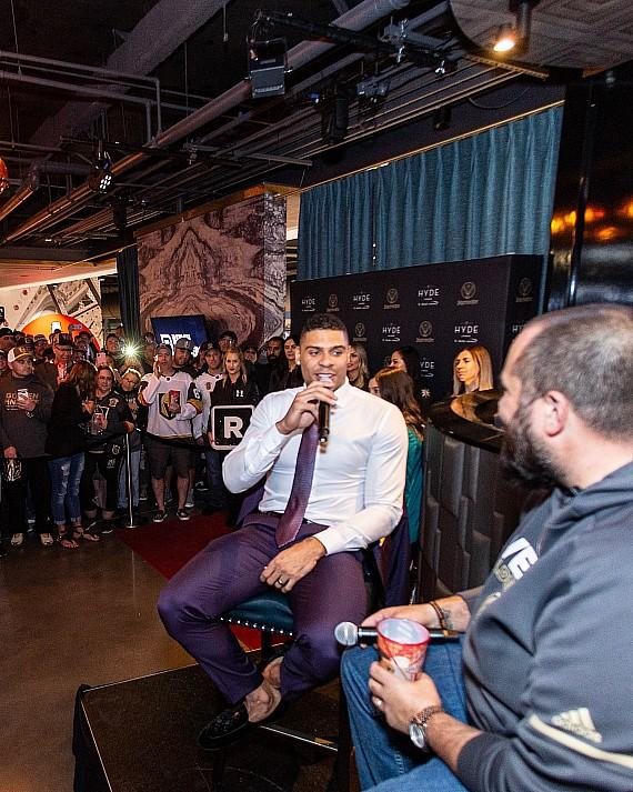 """Wayne """"Big D"""" Danielson hosts Q&A session with Ryan Reaves at Hyde Lounge"""