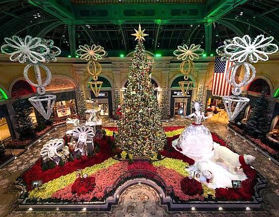 Bellagio's Conservatory & Botanical Gardens Transform Into Glamorous Holiday Wonderland Now Through January 6